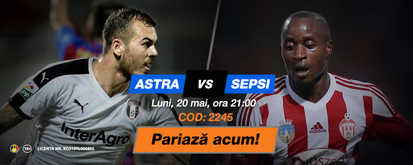 Astra – Sepsi, duelul care închide play-off-ul din Liga 1